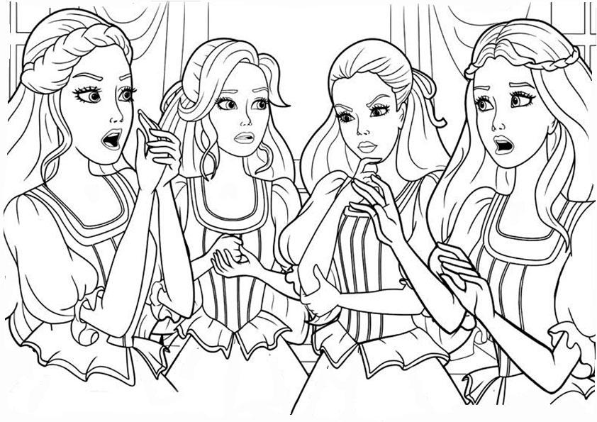 ausmalbilder barbie und freuden-3
