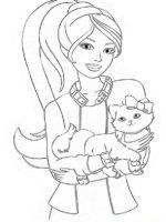 Barbie mit tiere-6