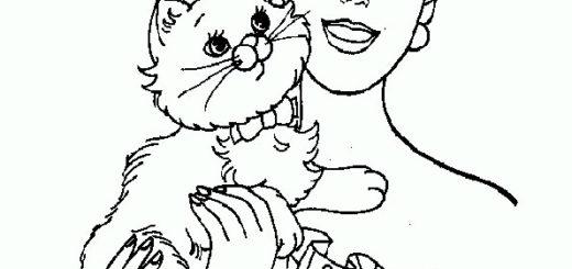 ausmalbilder barbie mit tiere-8