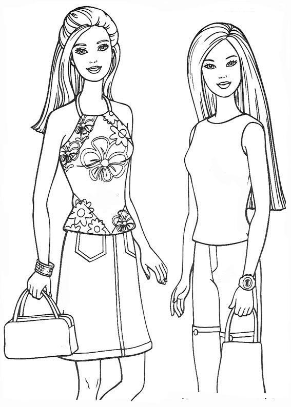 ausmalbilder barbie und freuden-6