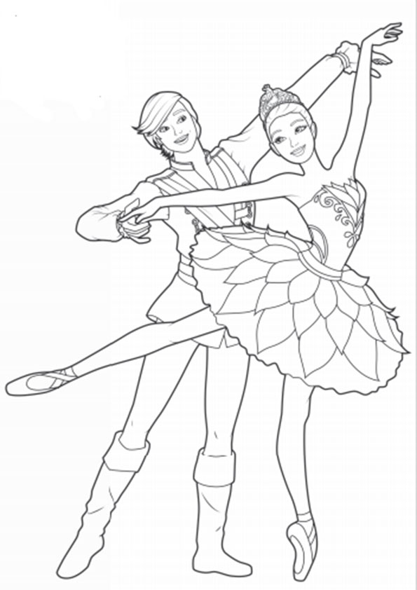 ausmalbilder barbie ballett-11