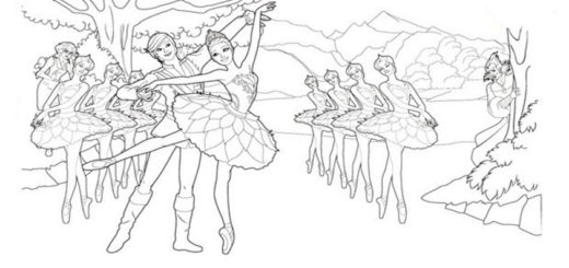 ausmalbilder barbie ballett-7