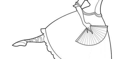 ausmalbilder barbie ballett-13