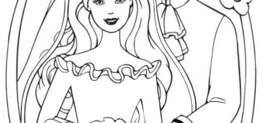 ausmalbilder barbie mit ken-18